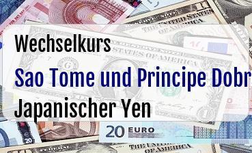 Sao Tome und Principe Dobra in Japanischer Yen