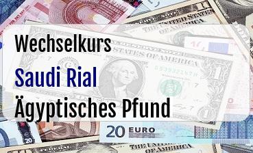 Saudi Rial in Ägyptisches Pfund