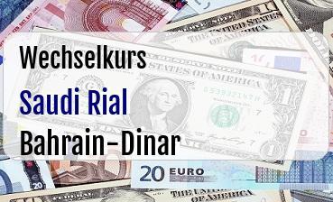 Saudi Rial in Bahrain-Dinar