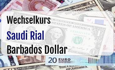 Saudi Rial in Barbados Dollar