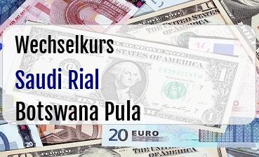 Saudi Rial in Botswana Pula