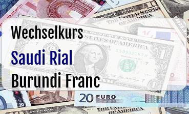 Saudi Rial in Burundi Franc