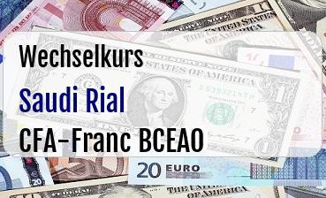 Saudi Rial in CFA-Franc BCEAO