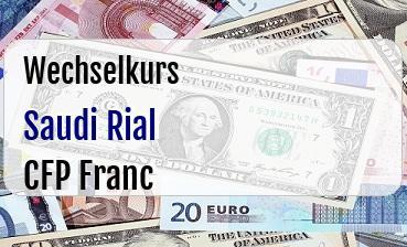 Saudi Rial in CFP Franc