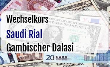 Saudi Rial in Gambischer Dalasi