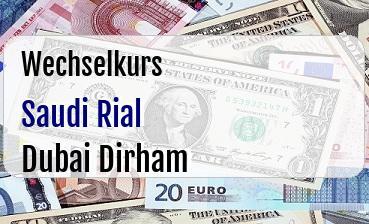 Saudi Rial in Dubai Dirham