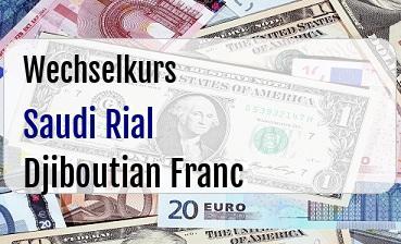 Saudi Rial in Djiboutian Franc