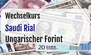 Saudi Rial in Ungarischer Forint