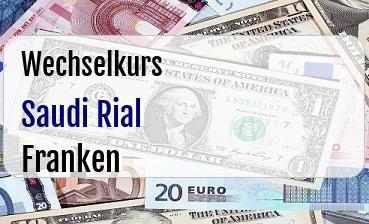 Saudi Rial in Schweizer Franken