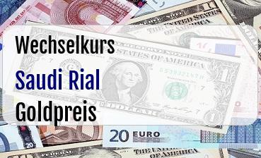 Saudi Rial in Goldpreis