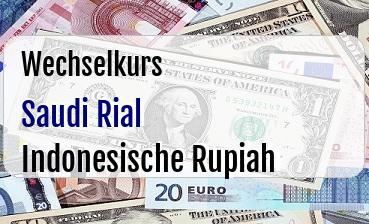 Saudi Rial in Indonesische Rupiah