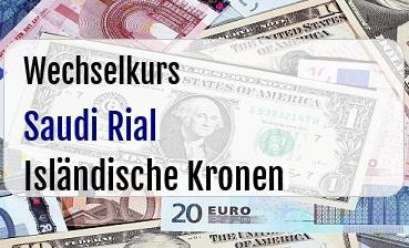 Saudi Rial in Isländische Kronen