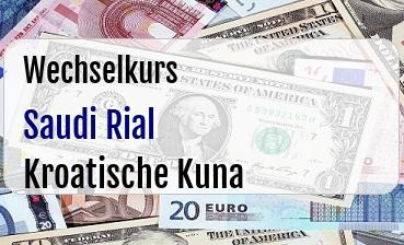 Saudi Rial in Kroatische Kuna