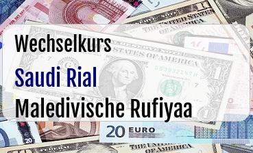 Saudi Rial in Maledivische Rufiyaa