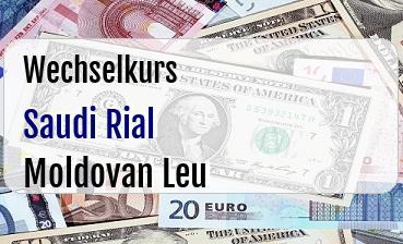 Saudi Rial in Moldovan Leu