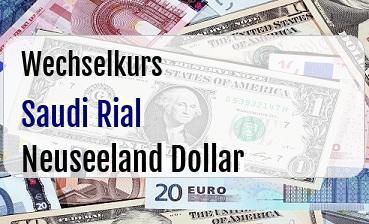 Saudi Rial in Neuseeland Dollar
