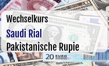 Saudi Rial in Pakistanische Rupie