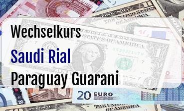 Saudi Rial in Paraguay Guarani