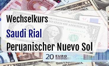 Saudi Rial in Peruanischer Nuevo Sol