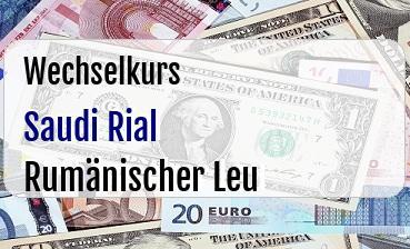 Saudi Rial in Rumänischer Leu