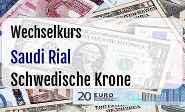 Saudi Rial in Schwedische Krone