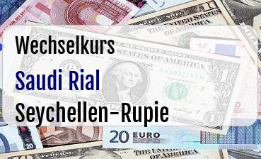 Saudi Rial in Seychellen-Rupie
