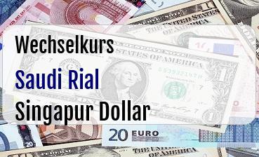 Saudi Rial in Singapur Dollar