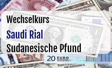 Saudi Rial in Sudanesische Pfund