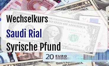 Saudi Rial in Syrische Pfund