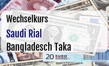 Saudi Rial in Bangladesch Taka
