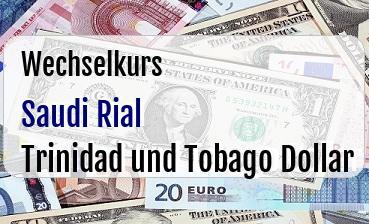 Saudi Rial in Trinidad und Tobago Dollar