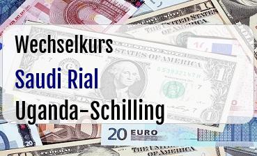 Saudi Rial in Uganda-Schilling