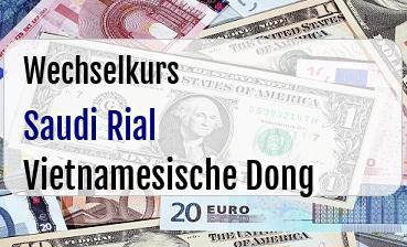 Saudi Rial in Vietnamesische Dong
