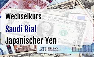 Saudi Rial in Japanischer Yen