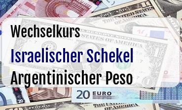 Israelischer Schekel in Argentinischer Peso