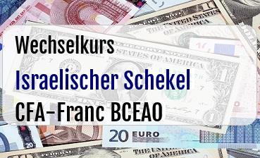 Israelischer Schekel in CFA-Franc BCEAO