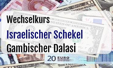 Israelischer Schekel in Gambischer Dalasi