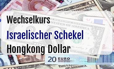 Israelischer Schekel in Hongkong Dollar