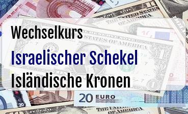 Israelischer Schekel in Isländische Kronen