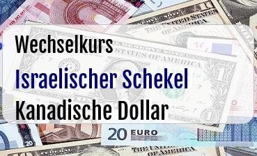 Israelischer Schekel in Kanadische Dollar