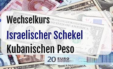 Israelischer Schekel in Kubanischen Peso