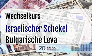 Israelischer Schekel in Bulgarische Leva