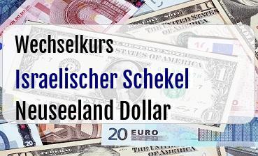 Israelischer Schekel in Neuseeland Dollar