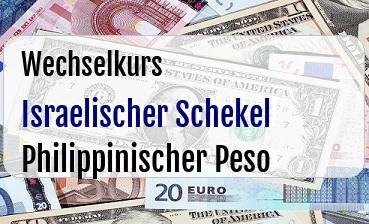 Israelischer Schekel in Philippinischer Peso