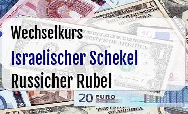 Israelischer Schekel in Russicher Rubel