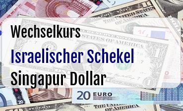 Israelischer Schekel in Singapur Dollar