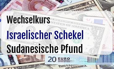 Israelischer Schekel in Sudanesische Pfund