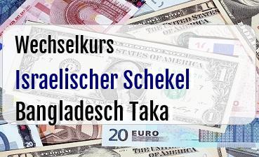 Israelischer Schekel in Bangladesch Taka