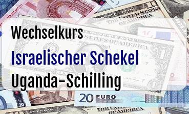 Israelischer Schekel in Uganda-Schilling