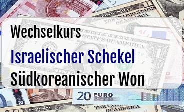 Israelischer Schekel in Südkoreanischer Won